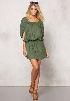 Chiara Forthi Intrend Modal Dress Khaki green Bubbleroom.no