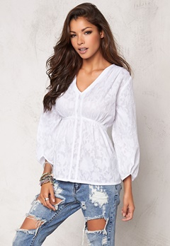 Chiara Forthi Intrend Tulip Sleeve Blouse White Bubbleroom.se