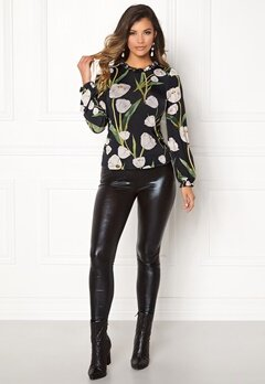 Chiara Forthi Intrend Tulip Top Black / Floral Bubbleroom.se
