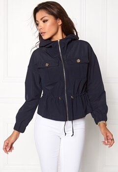 Chiara Forthi Intrend Windbreaker Jacket Dark blue / Gold Bubbleroom.eu