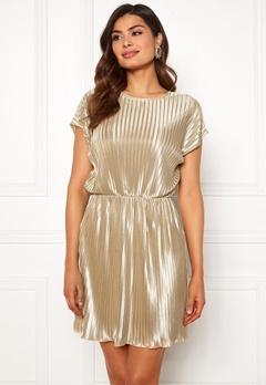 Chiara Forthi Isabelle plissé dress Beige Bubbleroom.se