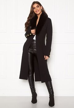 Chiara Forthi Ivy knitted Long Coat Black Bubbleroom.se