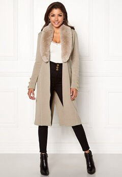 Chiara Forthi Ivy Long Coat Grey-beige Bubbleroom.se