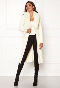Chiara Forthi Ivy Long Coat Offwhite Bubbleroom.se