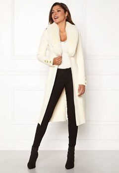 Chiara Forthi Ivy knitted Long Coat Offwhite Bubbleroom.se