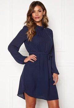 Chiara Forthi Jeanne wrinkle dress Navy Bubbleroom.se