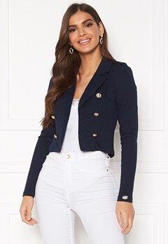 Chiara Forthi Jemma button jersey jacket Navy Bubbleroom.se