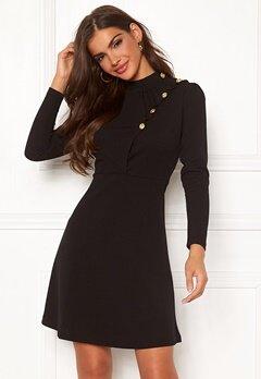 Chiara Forthi Jolanta Frill Buttoned Polo Dress Black Bubbleroom.se