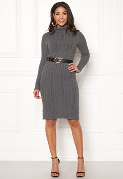 Chiara Forthi Josefina knitted dress Dark grey Bubbleroom.se