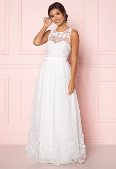 Chiara Forthi Julie flower  gown White Bubbleroom.se