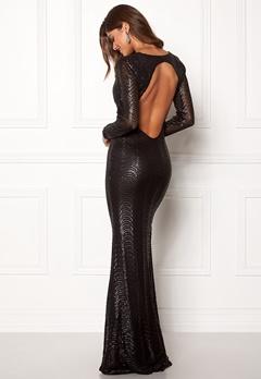 Chiara Forthi Julienne gown Black Bubbleroom.se