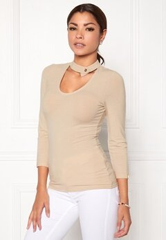 Chiara Forthi Karli Choker Top Light beige Bubbleroom.eu