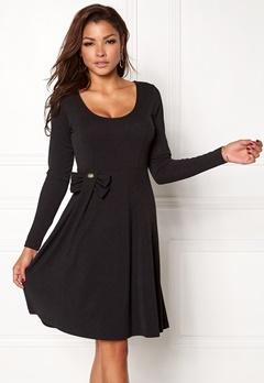 Chiara Forthi Kasia bow midi dress Black Bubbleroom.se