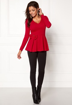 Chiara Forthi Kasia bow top Red Bubbleroom.se