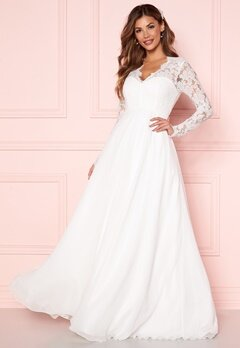 Chiara Forthi Kate lace gown White Bubbleroom.se