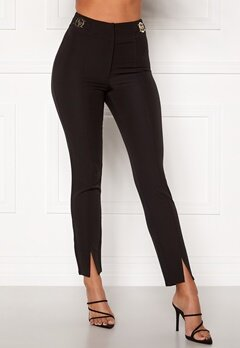 Chiara Forthi Katya buckle pants Black Bubbleroom.se