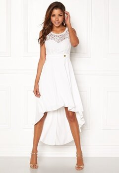 Chiara Forthi Kimberly Highlow Dress Antique white Bubbleroom.fi