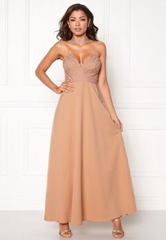 Chiara Forthi Kylee Maxi Dress Light pink Bubbleroom.no