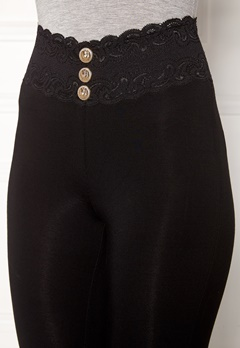 Chiara Forthi Lace button leggings Black / Gold Bubbleroom.se