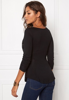 Chiara Forthi Lace Patch Top Black Bubbleroom.se