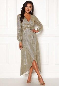 Chiara Forthi Leila sparkling dress Gold Bubbleroom.se