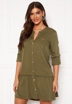 Chiara Forthi Lemonie Shirt Dress Khaki green Bubbleroom.se