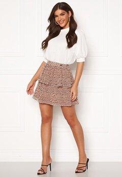 Chiara Forthi Leona flounce skirt Dusty pink / Black Bubbleroom.se