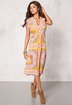 Chiara Forthi Leoni Midi Dress Pastel colors Bubbleroom.eu
