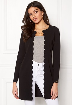 Chiara Forthi Leonora Scalloping Jacket Black Bubbleroom.se