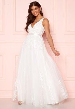 Chiara Forthi Leonore Tulle Gown White bubbleroom.se
