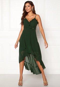 Chiara Forthi Lilianne flounce dress Emerald green Bubbleroom.se