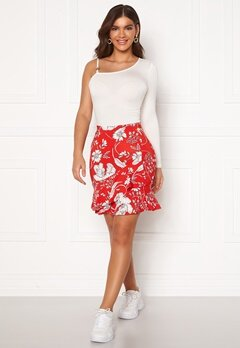 Chiara Forthi Lily flounce skirt Red / White Bubbleroom.se