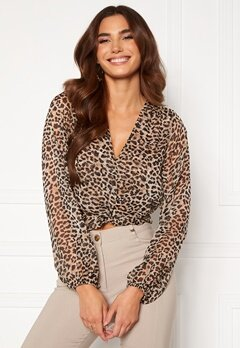 Chiara Forthi Lorenza blouse Leopard Bubbleroom.se