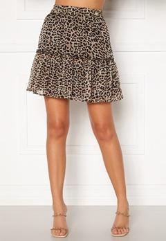 Chiara Forthi Lorenza mini skirt Leopard Bubbleroom.se
