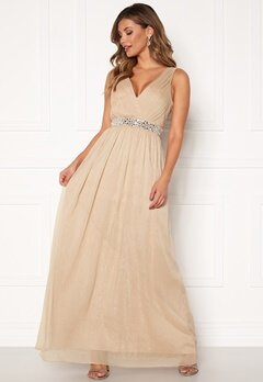 Chiara Forthi Madelaide Sparkling Gown Champagne Bubbleroom.se