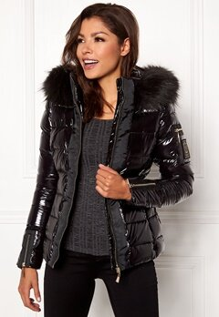 Chiara Forthi Madesimo Highgloss Down Jacket Black Bubbleroom.se