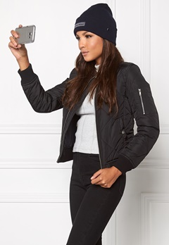 Chiara Forthi Mafioso Quilted Bomber Black Bubbleroom.dk