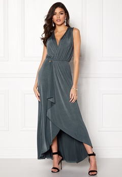 Chiara Forthi Malvina draped dress Grey Bubbleroom.fi