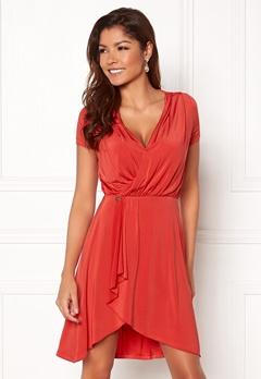 Chiara Forthi Malvina Draped Short Dress Red Bubbleroom.se