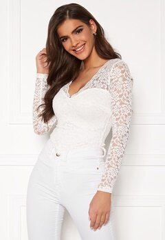Chiara Forthi Margeaux lace top White Bubbleroom.se