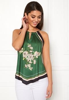 Chiara Forthi Marienela scarfs halterneck Black / Green / Floral Bubbleroom.se