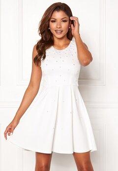 Chiara Forthi Marla pearl dress White Bubbleroom.se