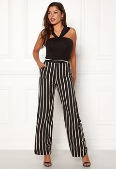 Chiara Forthi Martirir buttoned wide pants Black / Striped Bubbleroom.se