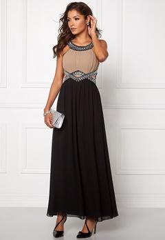 Chiara Forthi Matia Embellished  Dress Black / Dark Sand Bubbleroom.eu