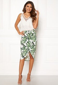 Chiara Forthi Mauritius wrap skirt White / Green / Patterned Bubbleroom.se
