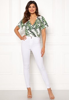 Chiara Forthi Mauritius wrap top White / Green / Patterned Bubbleroom.se