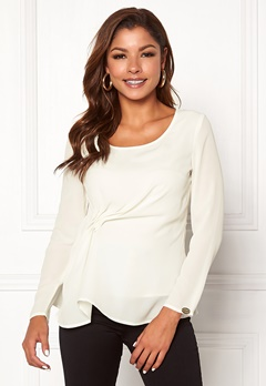 Chiara Forthi May draped top Winter white Bubbleroom.se