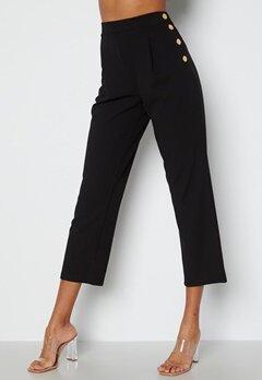 Chiara Forthi Mercede soft button trousers Black bubbleroom.se