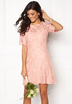 Chiara Forthi Michelle Lace Dress Old rose / Gold Bubbleroom.dk