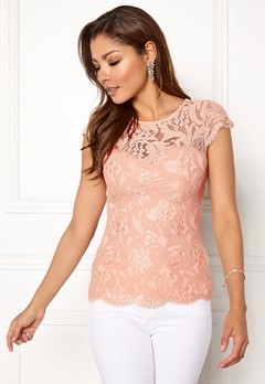 Chiara Forthi Michelle Lace Top Old rose Bubbleroom.se